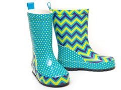 Groovy ZigZag Rain Boots - Tod 5-Youth 5
