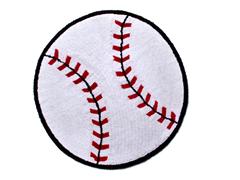 "36"" Round Baseball Rug"