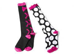 Lace 'em Up and Dots Knee Socks (2 Pair)