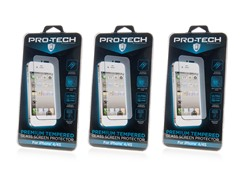 'Tempered Glass Scrn Protector: iP 4/4S & 5/5S/5C 3pk' from the web at 'https://d3gqasl9vmjfd8.cloudfront.net/7f1133ed-3ed9-4bc8-9f69-c519a345f7e4.jpg'