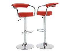 Homelegance Padded Stool Red 2pk