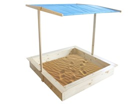 Wooden Sand Box With Canopy