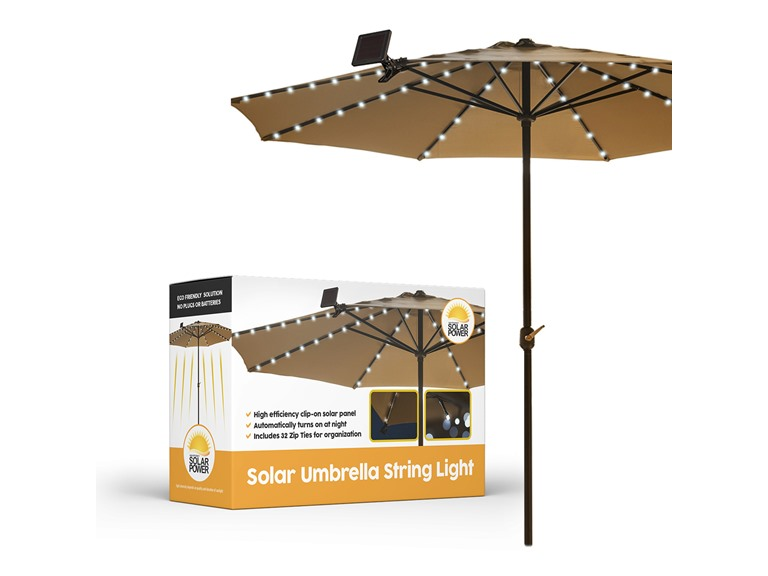Solar Outdoor Patio Umbrella String Lights