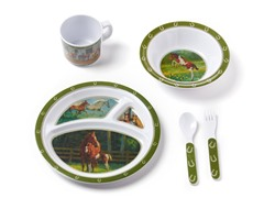 5-Piece Melamine Set - Horses