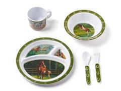 5-Piece Melamine Set - Horses