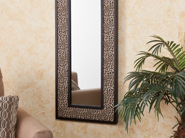 Leopard Print Wall Decor animal print decorative mirror - leopard