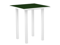 Euro Bar Table, White/Green