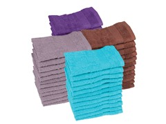 Performance Quick Dry 12-Pack Wash Cloths- 4 Colors