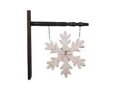 "18"" Wood Snowflake Sign"
