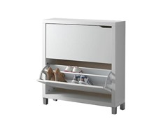 Simms Two Drawer Shoe Cabinet White