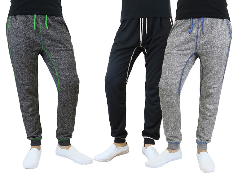 Men's 2-Pack French Terry Contrast Trim Joggers