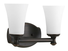 2-Light Bath Fixture, Oil Rubbed Bronze