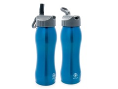 Gaiam Blue Stainless Steel Bottle 2-Pack