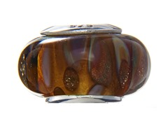 Brown Swirl Glass Bead