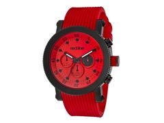 Red Dial with Red Silicone Band
