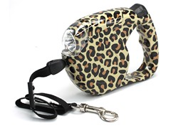 Dog Leash with Light - Leopard Design