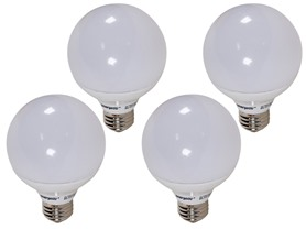G25 Globe 500 Lumen LED Bulb Four Pack