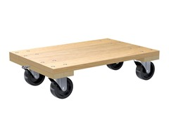 "Hardwood Solid Deck Dolly, 24"" x 16"""