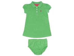 Green Polo Dress (3M-4T)