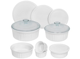 CorningWare French Wht 12-Pc Round Set