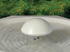 Water Rippling Bird Bath with Pedestal