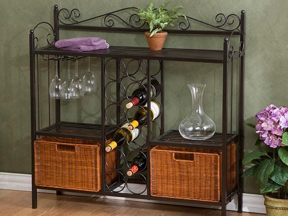 Quot Celtic Quot Baker S Rack With Wine Storage