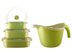 Batter Bowl, Lid & 6-Piece Set Lime