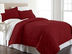 Micro Flannel® Comforter Set-Wine-3 Sizes