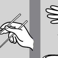 chopstick usage americano