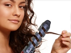 Curlicue Hair Curling Wand Red