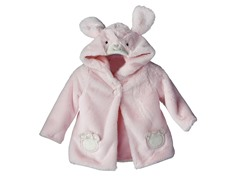Pink Bunny Sherpa Hoodie (3-12M)