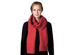 DHS Long Pleece Scarf - Tomato Red