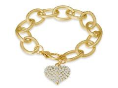 Swarovski Elements Floating Heart Bracelet