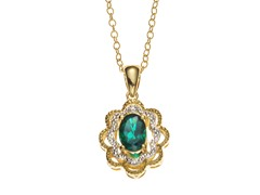 14kt Gold Plated Diamond Necklace