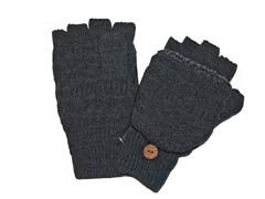 MUK LUKS® Men's Flip Mittens, Grey