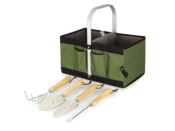 garden caddy collapsible basket w tools