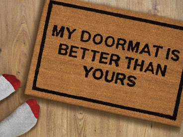 Clever Doormats, Say What?