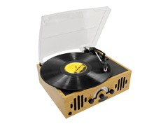 Retro Belt-Drive Turntable With Three Speeds & AM/FM