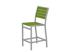 Euro Counter Chair, Silver/Lime