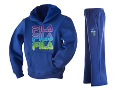 Fila Fleece Set - Logo, Blue (4-6X)