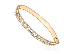 Gold/White Swarovski Elements Bangle Bracelet