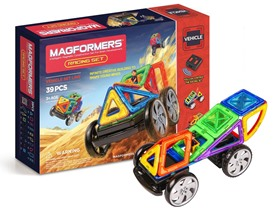 Magformers 39 Piece Racing Set