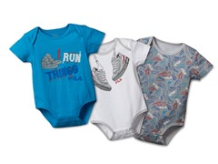 "FILA ""Run Things"" Bodysuit 3-Pack (0-6M)"