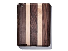 Walnut Lt. Stripes Cover for iPad 2 & 3
