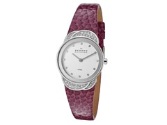 Women's White / Purple Leather Watch