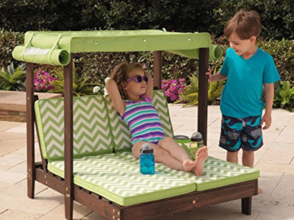 KidKraft Outdoor Double Chaise Lounge with Canopy - Kids ...