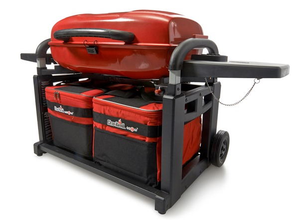 portable grill and cart combo red. Black Bedroom Furniture Sets. Home Design Ideas