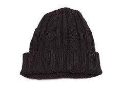 MUK LUKS ® Men's Knit Cable Cuff Hat, Black