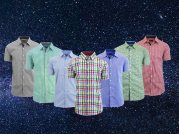 Galaxy by Harvic Short Sleeve Dress Shirts