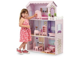 Fancy Mansion Dollhouse w/ Furniture